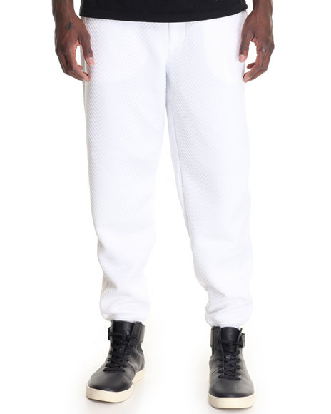Akademiks Men Sculpture Quilted Sweatpant White X-Large