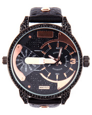 Rocawear - Universal Round Face Leather Band Watch