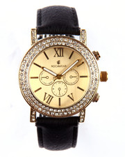 Rocawear - Round Bling Face Leather Band Watch