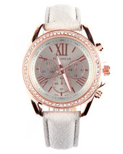Rocawear - Bling Face Leather Band Watch