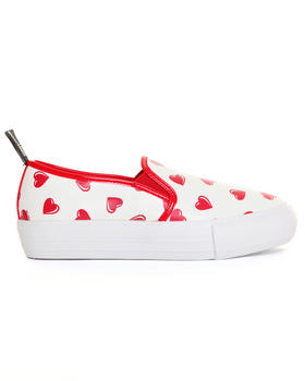 Women - HEART SLIP ON SNEAKERS