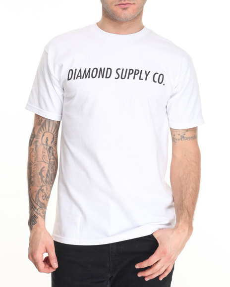 Diamond Supply Co Men Italic Tee White X-Large