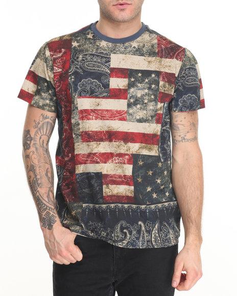 Akademiks Men Flagg T-Shirt Navy Large