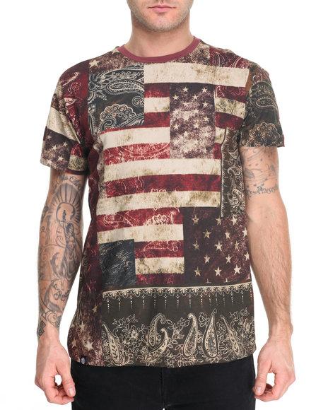 Akademiks Men Flagg T-Shirt Brown Medium