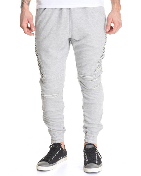 Buyers Picks - Men Grey Side - Slit French Terry Joggers