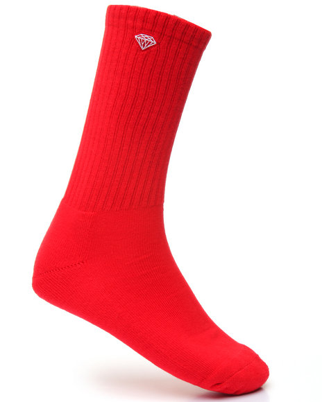 Diamond Supply Co Men Brilliance High Top Socks Red
