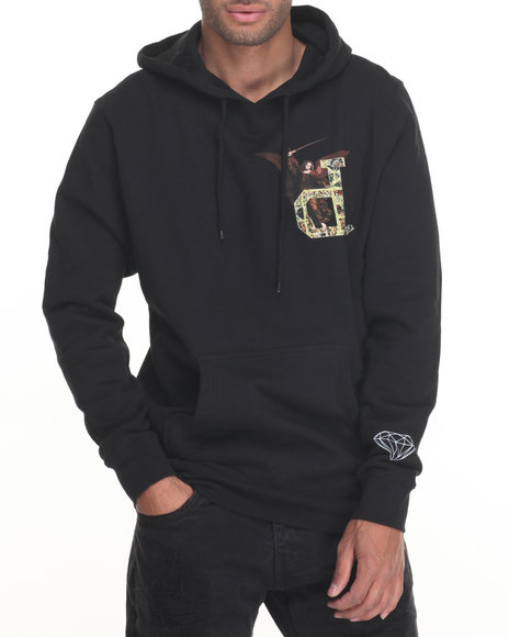 Diamond Supply Co - Men Black Un-Polo Angel Hoodie - $80.00
