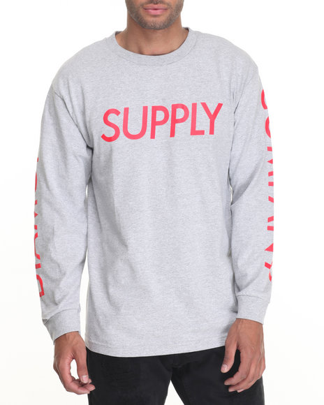 Diamond Supply Co - Men Grey Supply L/S Tee - $38.00