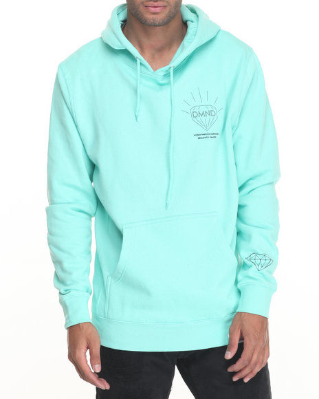 Diamond Supply Co Men Brilliant Hoodie Teal Medium