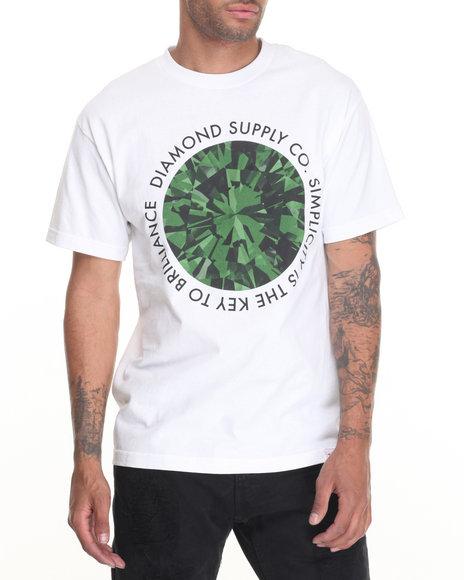 Diamond Supply Co - Men Green,White Simplicity Tee