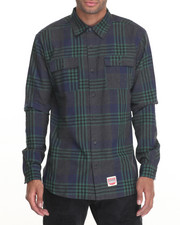 Long-Sleeve - Diamond Plaid Flannel L/S Button-down