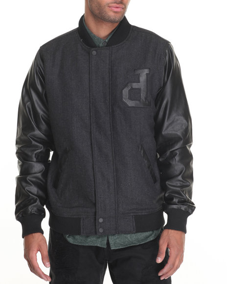 Diamond Supply Co - Men Black Un Polo Varsity Jacket