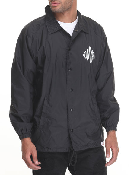 Diamond Supply Co - Men Black Monogram Coach's Jacket - $80.00