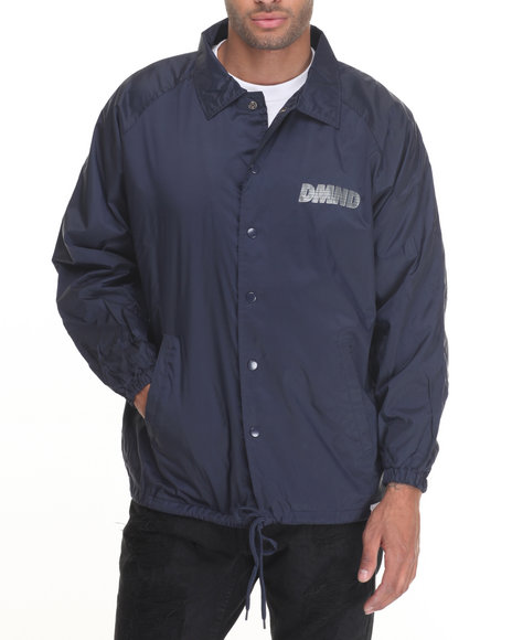 Diamond Supply Co Men Glory Coach's Jacket Navy X-Large
