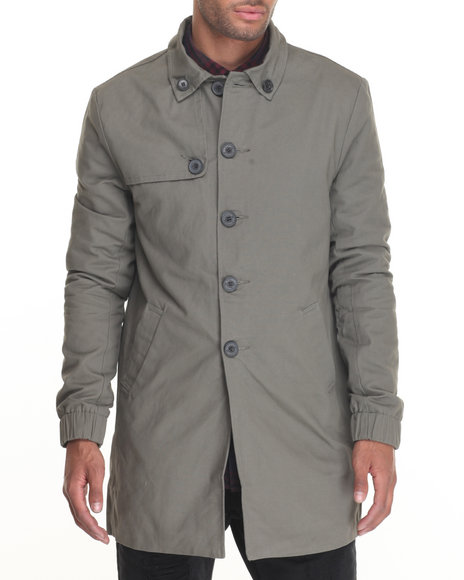 Diamond Supply Co Men Diamond Trench Coat Olive Large