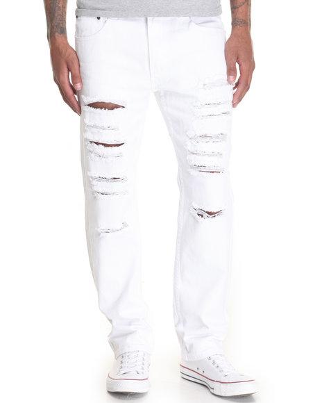 Akademiks Men Night Hawk Denim Jeans White 34x32