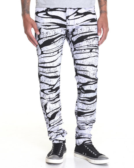 Buyers Picks - Men Black White - On - Black Slim - Fit Denim Jeans