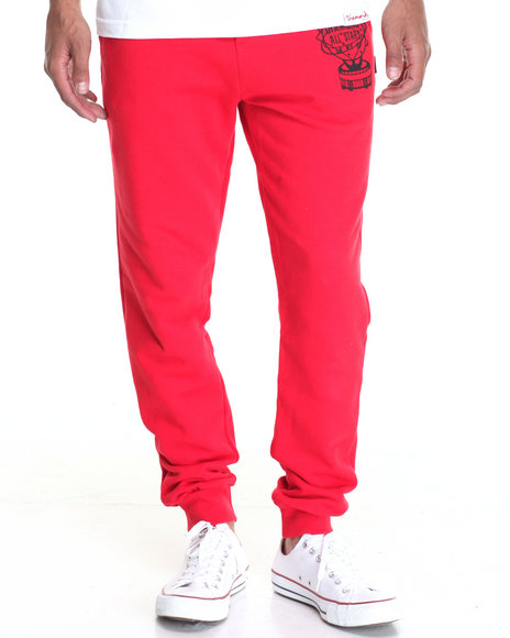 Diamond Supply Co - Men Red Diamond All Star Sweatpants