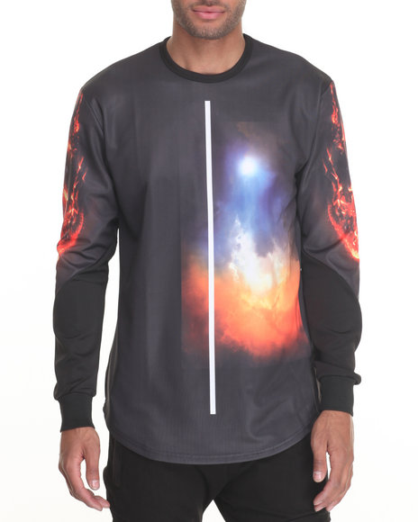 Vie + Riche - Men Black Meteorite L/S Tee