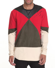Men - Tri Paneled Color Block L/S Tee