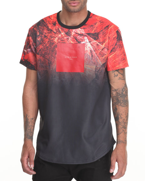 Vie + Riche - Men Black Molten Marble S/S Tee
