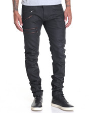 Men - Multi - Zipper Coated Twill Pants