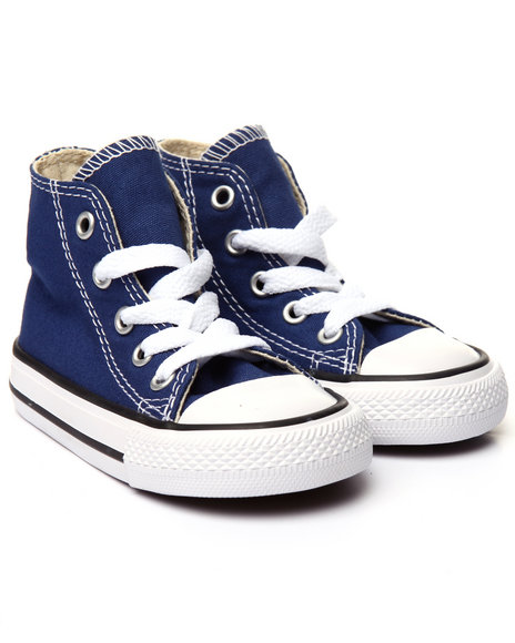 Converse - Boys Blue Chuck Taylor All Star Hi Sneakers (5-10)