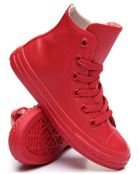 Converse - Boys Red Chuck Taylor All Star Hi Rubber Sneakers (11-3)