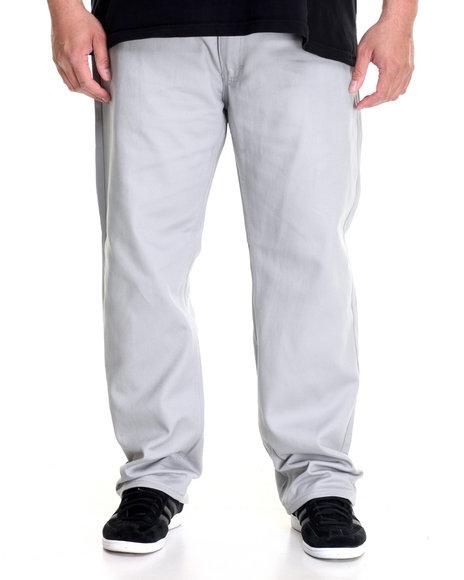 Akademiks Men Culture Twill Pant (B&T) Grey 44x32