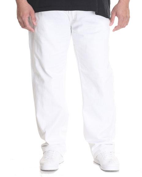Akademiks Men Culture Twill Pant (B&T) White 50x34