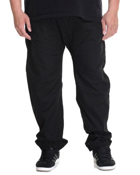 Akademiks Men Noble Woven Jogger Pant (B&T) Black 4X-Large