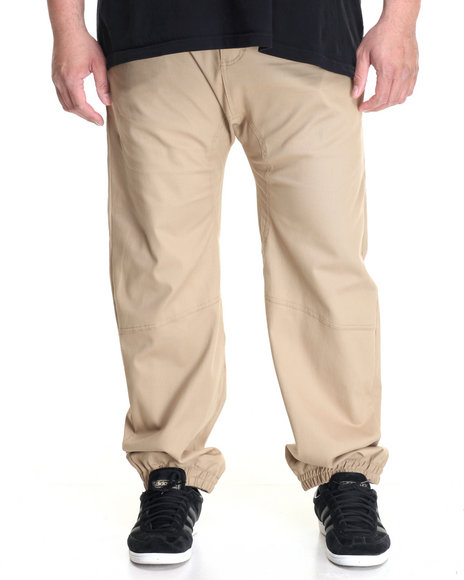 Akademiks - Men Khaki Noble Woven Jogger Pant (B&T)