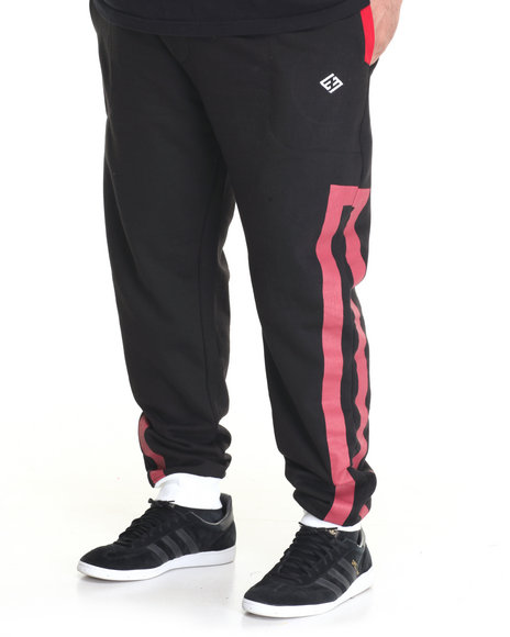 Enyce - Men Black Solid Strip Jogger - $32.00
