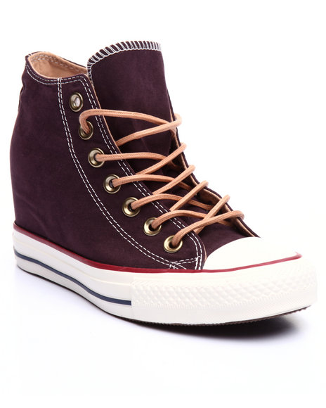 Converse - Women Maroon Chuck Taylor All Star Lux Wedge Sneakers