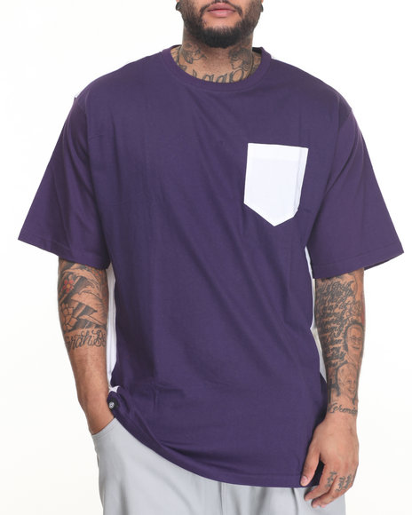 Akademiks - Men Purple Uptown T-Shirt (B&T)