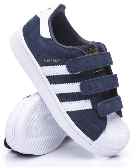 Adidas - Boys Navy Superstar Cf C Sneakers (11-3)