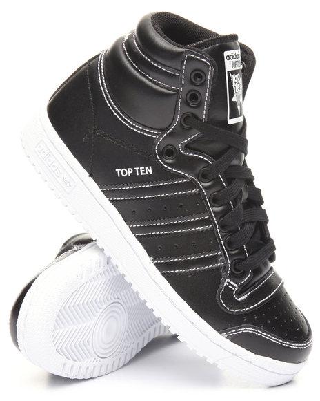 Adidas Boys Top Ten Hi J Sneakers (3.57) Black 4.5 Youth