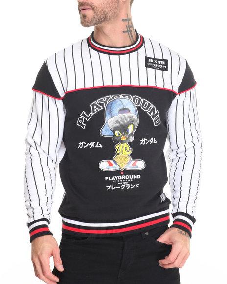 Buyers Picks - Men Black,White Playground-Bird In Ski Mask Sweatshirt