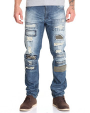 Jeans & Pants - Camo Patchwork Denim Jean