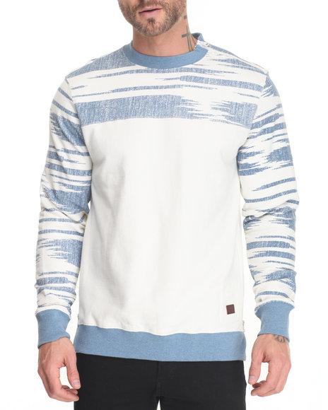Parish - Men Off White,Light Blue Printed Sweatshirt