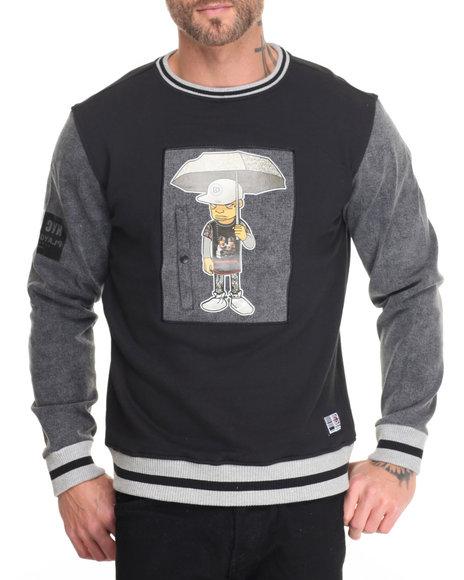 Koodoo - Men Black Playground- Sneakerhead Rainy Day Sweatshirt