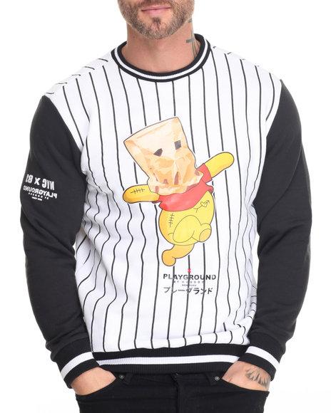 Buyers Picks - Men White Playground-Bear In Paper Bag Sweatshirt