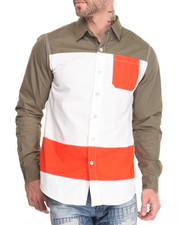 Button-downs - Colorblock L/S Button-Down