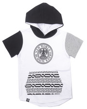Akademiks - S/S ELONGATED FRENCH TERRY NEW WORLD HOODY (2T-4T)