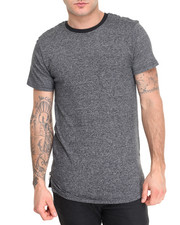 Shirts - Bike Quilted Marled Zip Tee