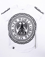 Akademiks - ELONGATED NEW WORLD TEE (4-7)