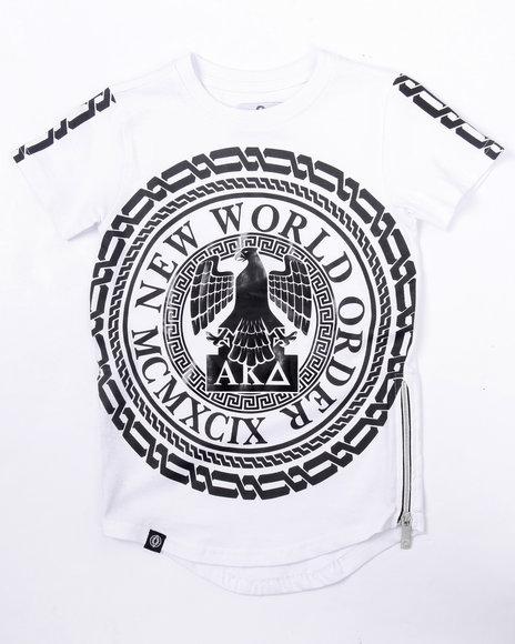 Akademiks - Boys White Elongated New World Tee (4-7) - $26.99