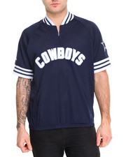 Mitchell & Ness - Dallas Cowboys NFL Championship Win 1/4 Zip Mesh Pullover S/S Shirt