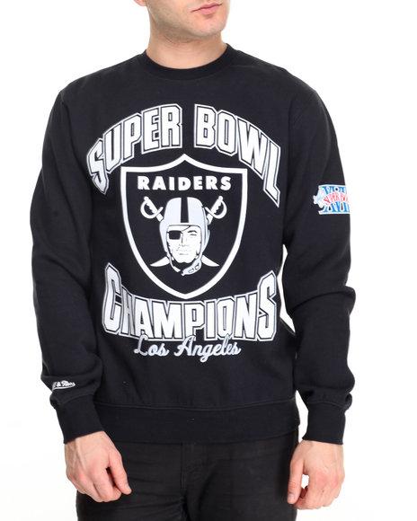Mitchell & Ness - Men Black Los Angeles Raiders Nfl Team Of The Year Crew Sweatshirt