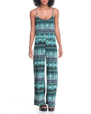 Women - Blousson Top Palazzo Leg Bottom Jumpsuit
